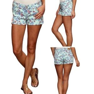 LEVI'S Floral Print Denim Shorts
